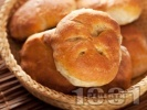 Рецепта Френски питки по селски с жива прясна мая в хлебопекарна (машина за хляб) или на фурна
